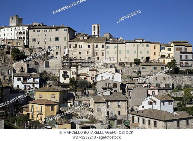 view of the city of Narni, near Terni, Umbria, Italy