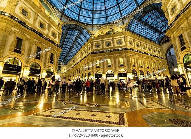 Italy, Lombardy, Milan, Galleria Vittorio Emanuele II