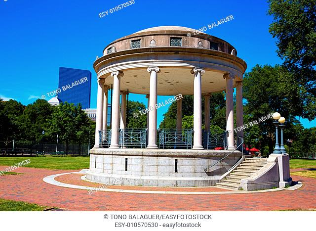 Boston Common Parkman Bandstand in sunlinght at Massachusetts USA