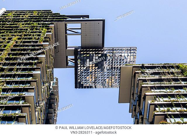 General Views showing One Central Park which is built around Chippendale Green. The bulding itself was designed by award-winning Parisian architect Jean Nouvel...