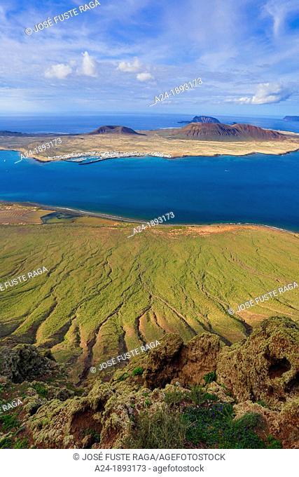 Spain , Canary Islands , Lanzarote Island, Mirador del Rio, Isla Graciosa