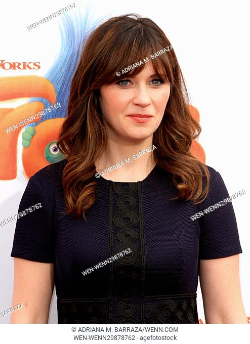 Zooey Deschanel Arrival Los Angeles Stock Photos And Images Age