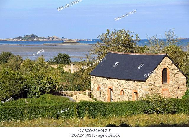 Outbuilding of Abbey 'Abbaye de Beauport', built 1202, Paimpol, Baie de Saint Brieuc, Brittany, France