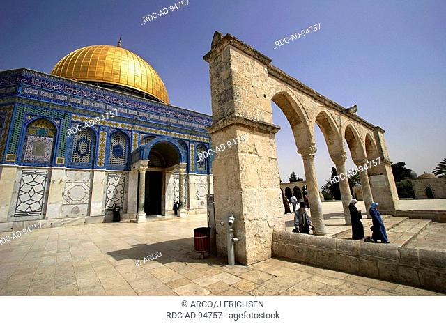 Dome of the Rock Temple Mount old part of Jerusalem Israel