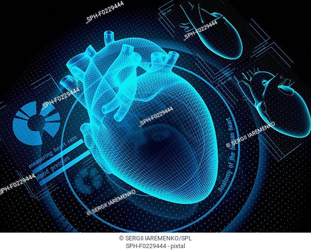 Futuristic healthcare technologies, conceptual illustration