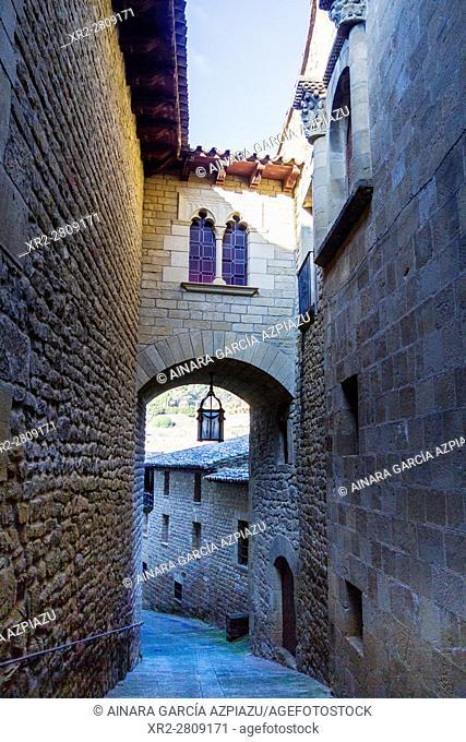 Streets of Uncastillo, Aragon, Spain