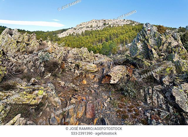 Head cliff in the Sierra Norte. Patones. Madrid. Spain. Europe