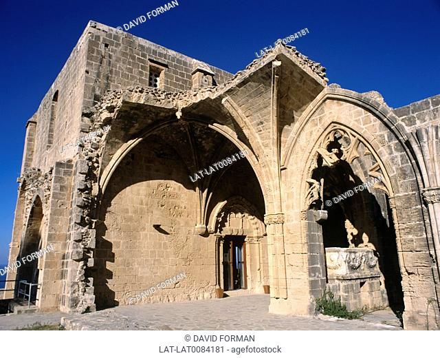 The historic 12th century monastery just outside Kyrenia is a fine example of Gothic architecture of the Lusignan period