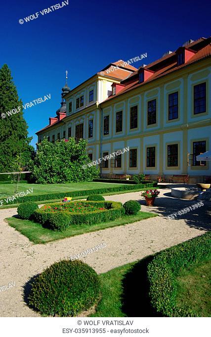 Garden of Svojsin Chateau, the Plzen Region, the Southwestern Bohemia, Czech Republic