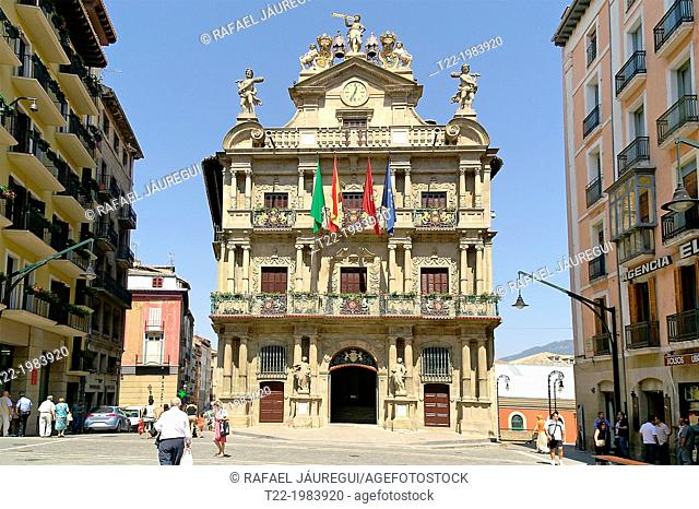 Pamplona / Iruña Spain. Council of Pamplona in the historic city