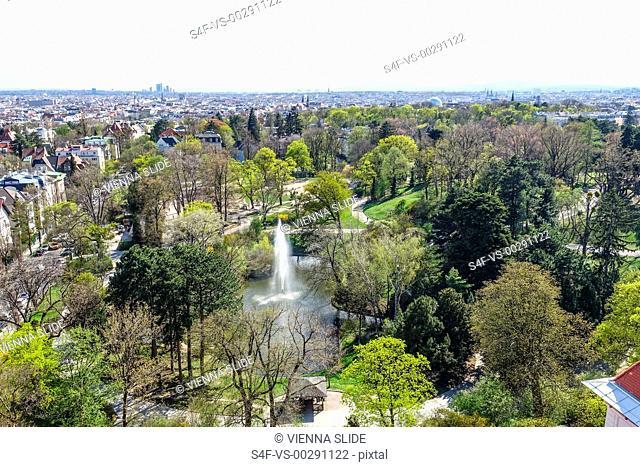 Österreich, Wien, Blick über den Türkenschanzpark