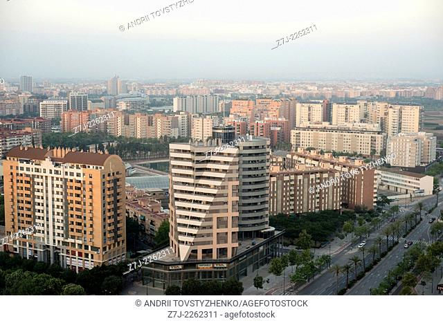 View of Valencia City, Spain