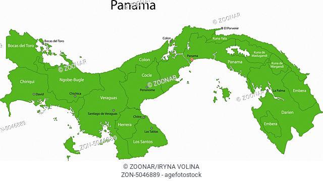 Green Panama map