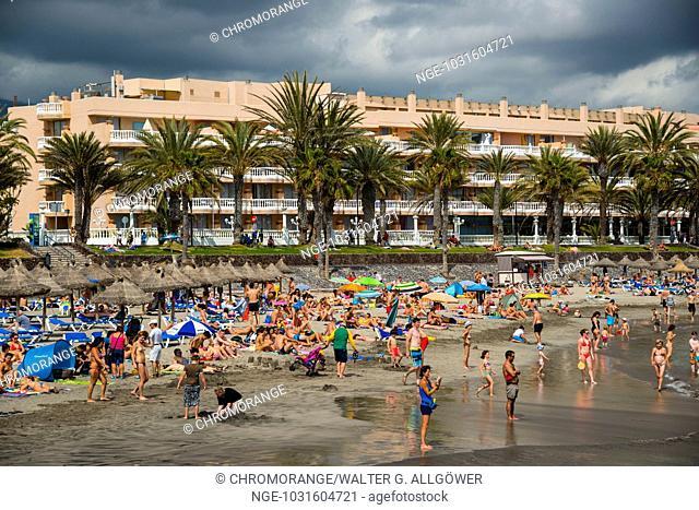 Strand, Playa de las Américas, Teneriffa, Kanarische Inseln, Kanaren, Spanien, Europa