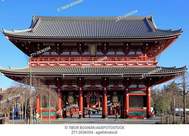 Japan, Tokyo, Asakusa, Sensoji Temple, Hozomon Gate,