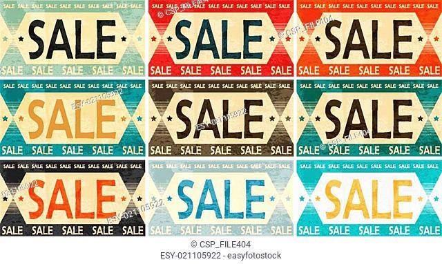 vintage sale label