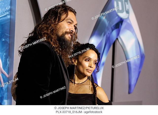 """Jason Momoa, Lisa Bonet at the Premiere of Warner Bros' """"""""Aquaman"""""""" held at the TCL Chinese Theatre in Hollywood, CA, December 12, 2018"""