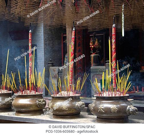 Incense burning in the Thien Hau Temple