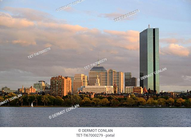 View of buildings along Charles River