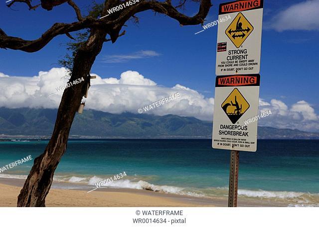 Beach on Hawaii, Maui, Pacific, Hawaii, USA