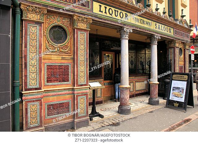 UK, Northern Ireland, Belfast, The Crown Liquor Saloon,