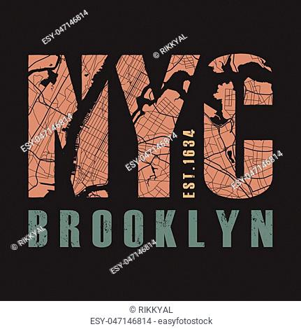 New York tee print. T-shirt design graphics stamp label typography. Vector illustration
