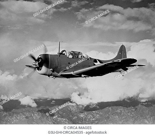 U.S. Navy SBD Light Dive Bomber, Office of War Information, 1940's