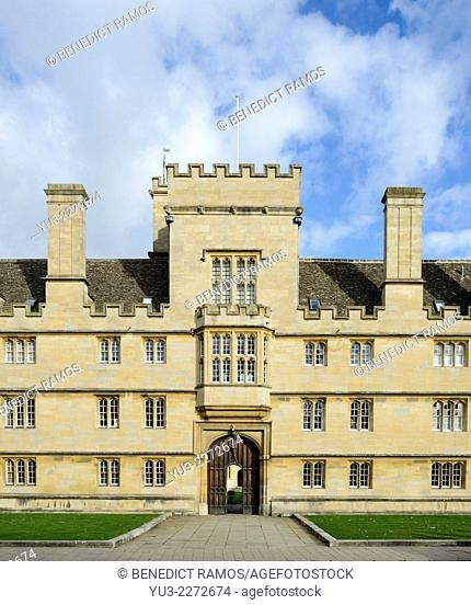 Front entrance of Wadham College, Oxford University