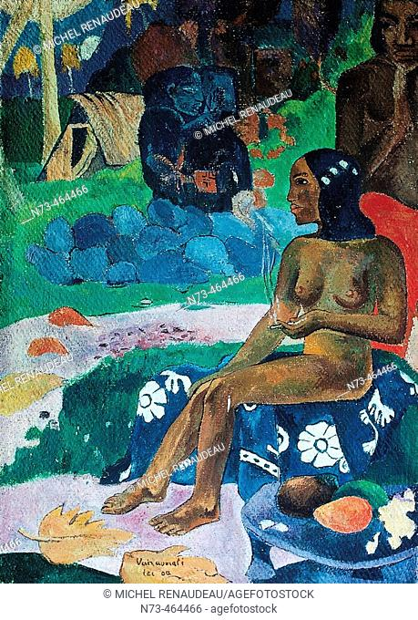 Gauguin painting. French Polynesia