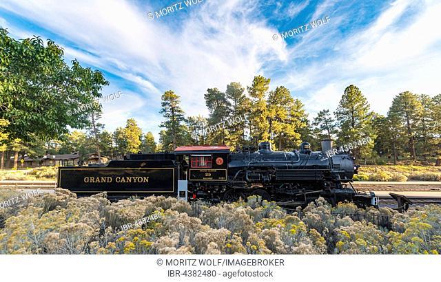 Grand Canyon historic steam train, South Rim, Grand Canyon National Park, Arizona, USA