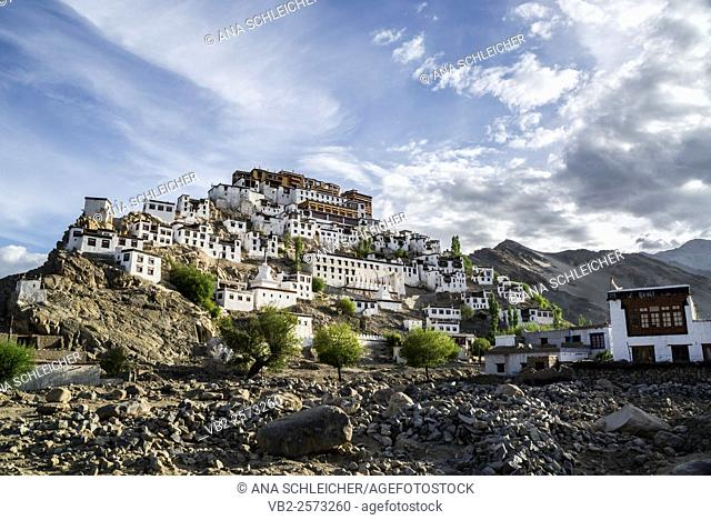 Low-angle shooting of Thicksay gompa, Ladakh, India
