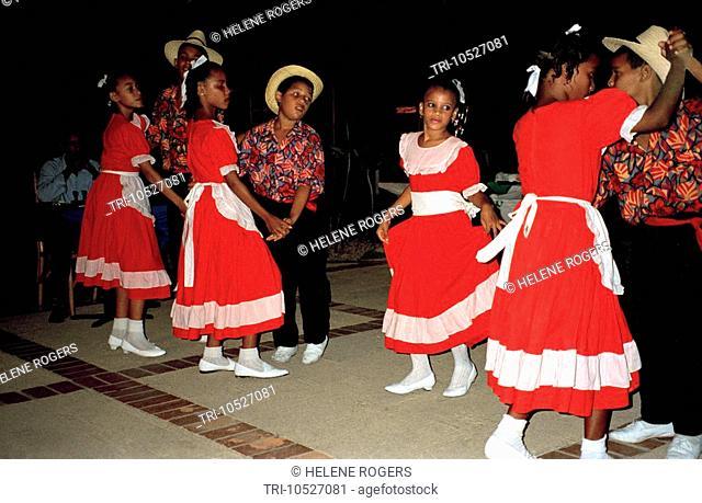 Puerto Plata Dominican Republic Children Dancing Merengue / Bachata