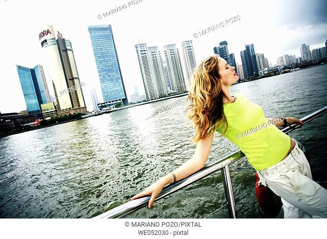 Woman in Shanghai. China