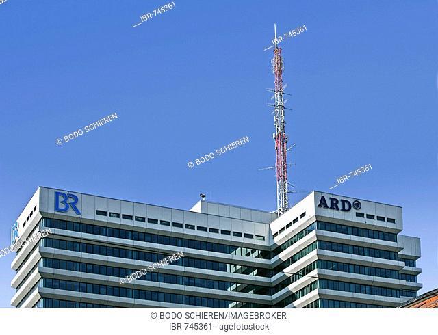 Bayerischer Rundfunk (Bavarian Broadcasting) building in Munich, Bavaria, Germany