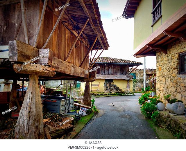 Biedes village, Piloña municipality, Asturias, Spain