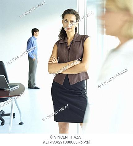 Businesspeople in workspace