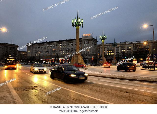 Plac Konstytucji Square, Warsaw landmark, Warsaw, Poland