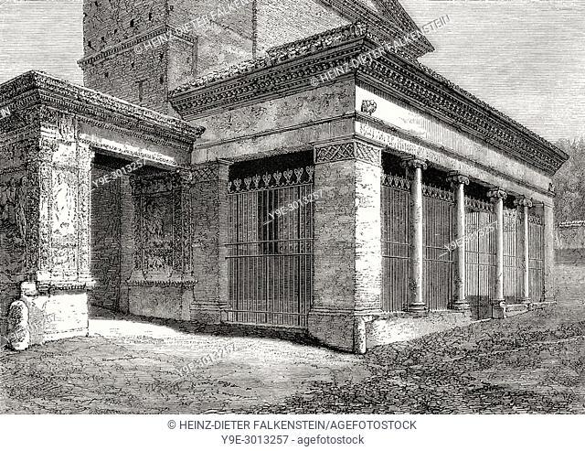 Arcus Argentariorum, San Giorgio, Velabro, Rome, Italy, 19th Century