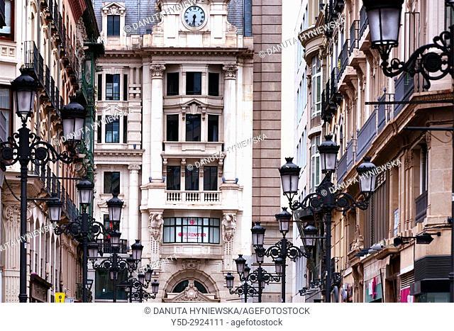 Calle Alfonso I, historic center of Zaragoza, Saragossa, Aragon, Spain, Europe