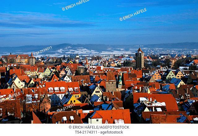 View of Rothenburg ob der Tauber