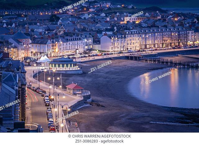 Aberystwyth Ceredigion Wales at twilight