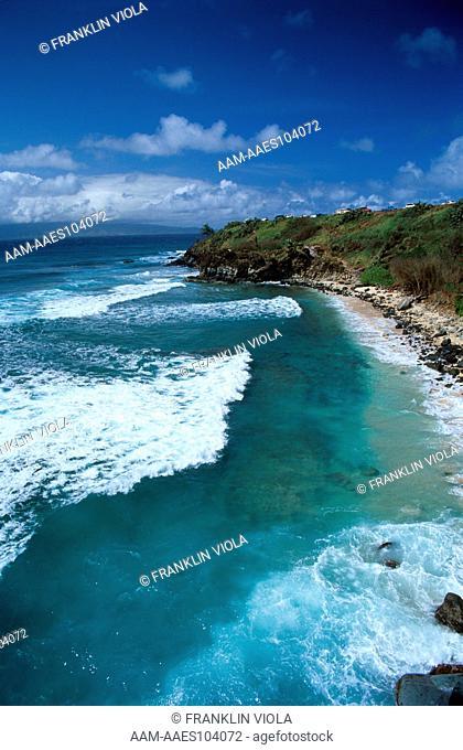 Honolua Bay, famous Surfing Beach on North Shore, Maui, HI.Hawaii