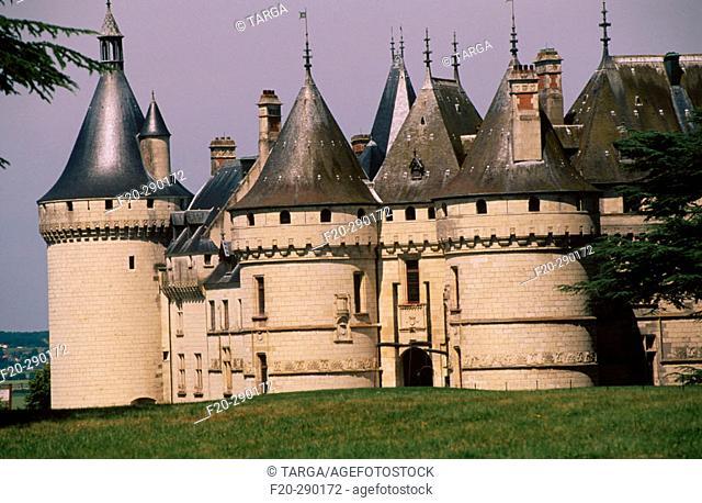 Castle. Chaumont-sur-Loire. Loire, France