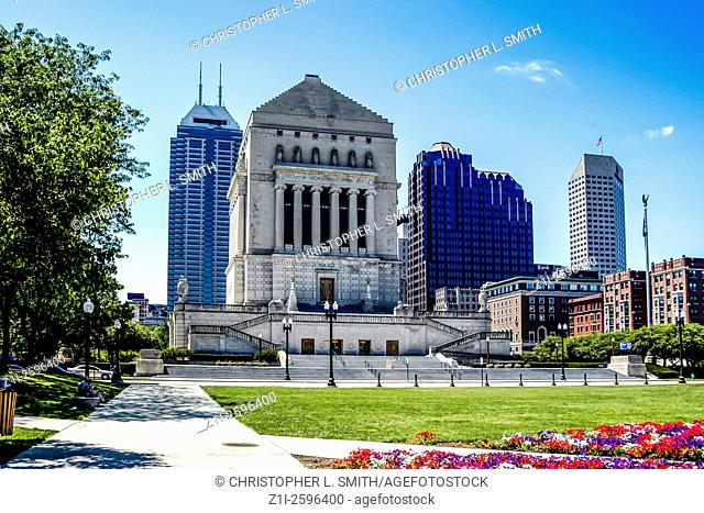 The indiana World War Memorial Indianapolis
