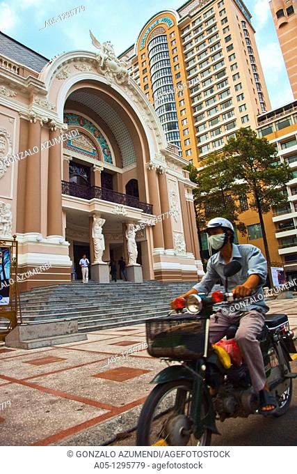 Municipal Theater. Ho Chi Minh City (formerly Saigon). South Vietnam