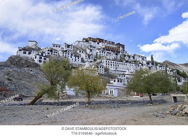 Thiksay Monastery (Thikse) perched on a hillside, Indus Valley, Ladakh, India