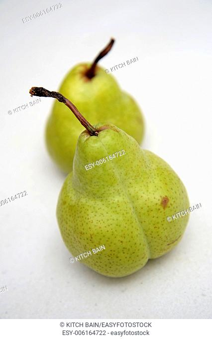 Fresh fruit isolated on a kitchen bench