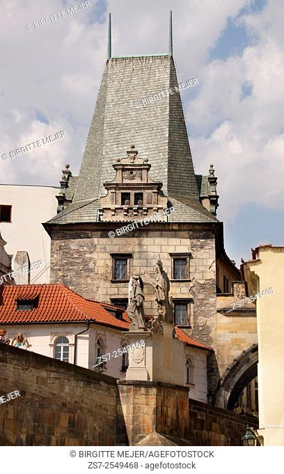 The Old Town Bridge Tower is a beautiful Gothic tower guarding one end of Charles Bridge, and heralding entrance to the Old Town. Prague