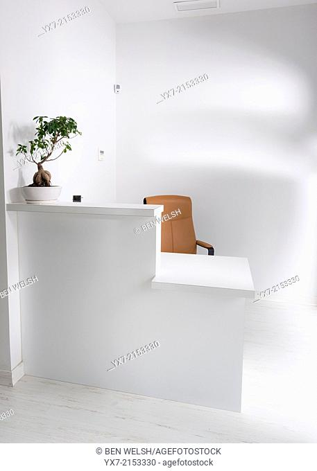Reception area of a office