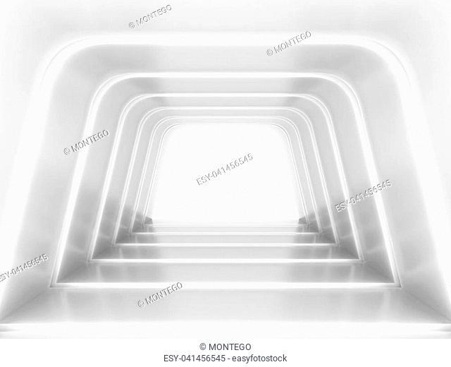 Abstract futuristic tunnel. 3d illustration